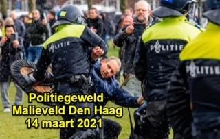 Politiegeweld op het Malieveld (14 maart 2021)