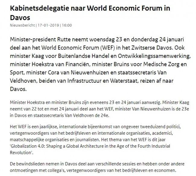 Mark Rutte en Kaag en hun link naar het WEF
