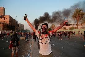 Grote anti-Amerikaanse demonstraties in Irak