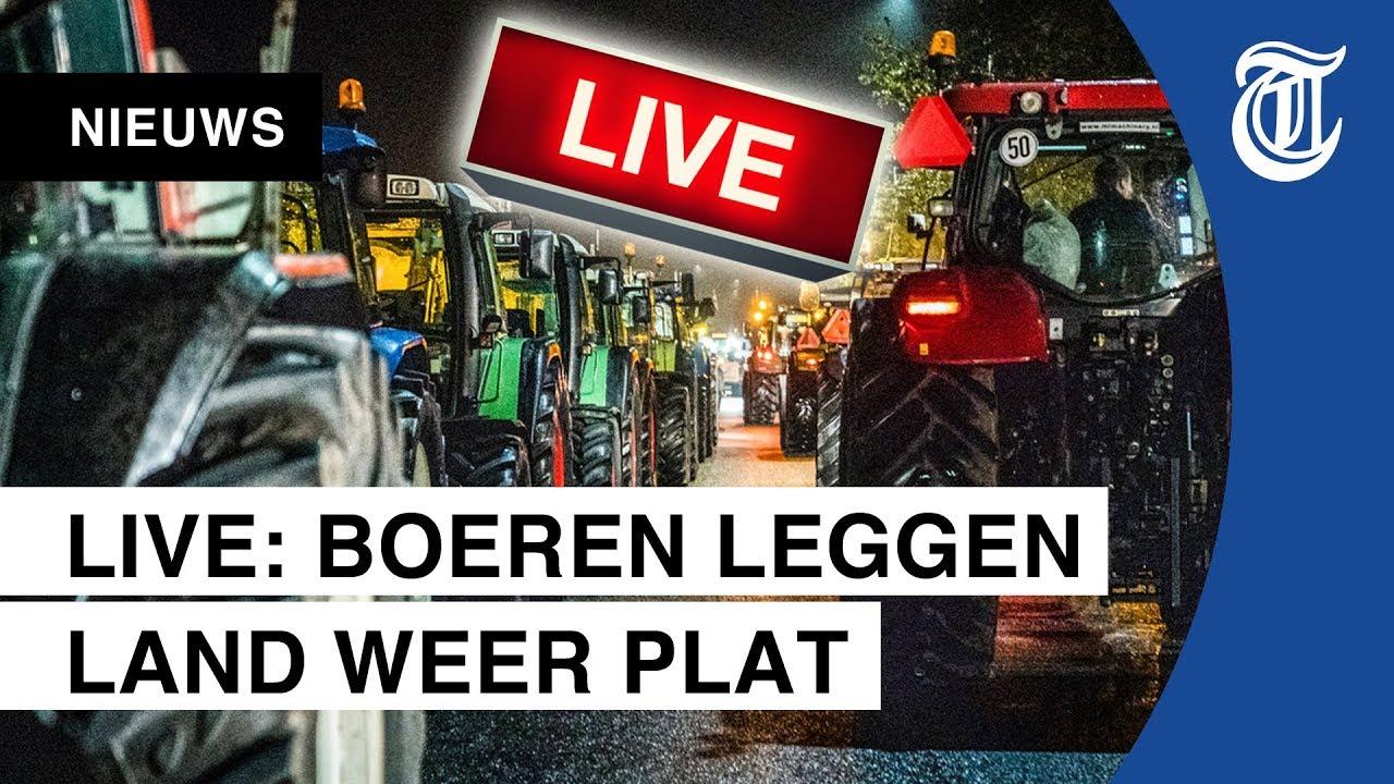 LIVE: Boeren protesteren tegen RIVM